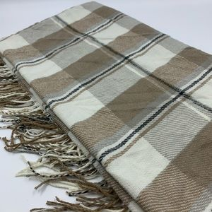 D&Y Square blanket scarf plaid business casual